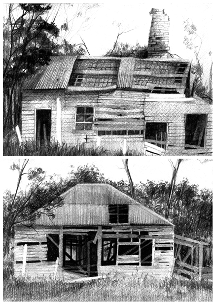 MORE OLD HOUSES IN GRAPHITE